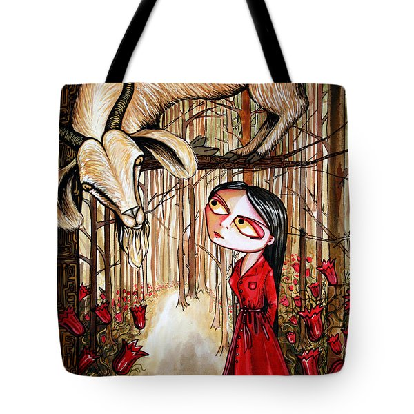 Tote Bag featuring the painting Higher Ground by Leanne WILKES