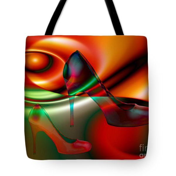 Highheels Red And Green Tote Bag