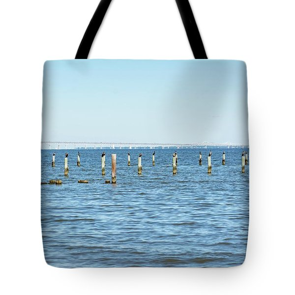 Tote Bag featuring the photograph Highland Beach On The Chesapeake by Charles Kraus