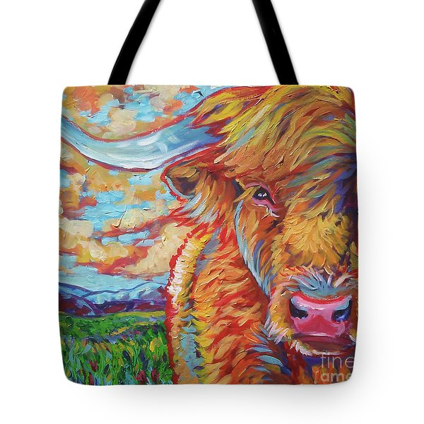 Tote Bag featuring the painting Highland Breeze by Jenn Cunningham