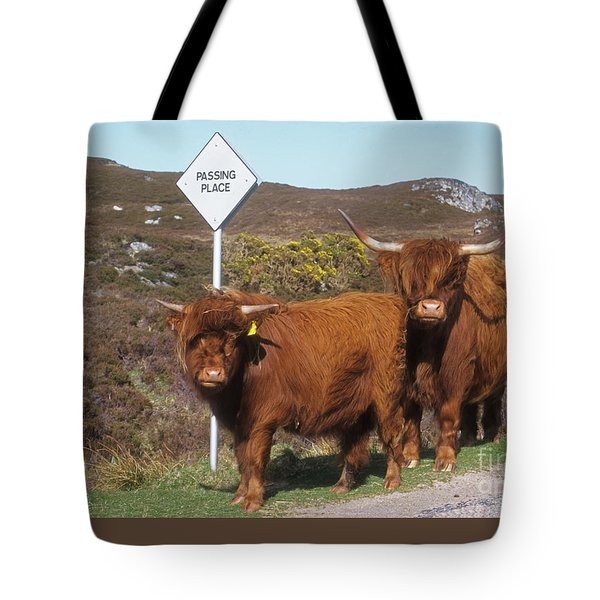Highland Cattle - Passing Place Tote Bag