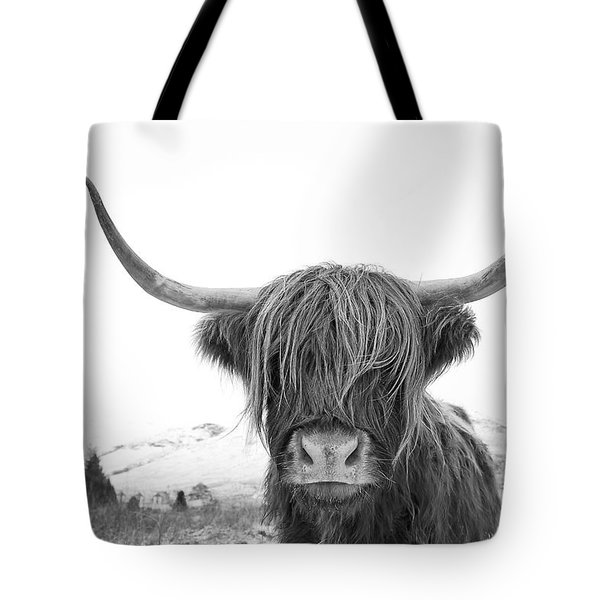 Highland Cow Mono Tote Bag