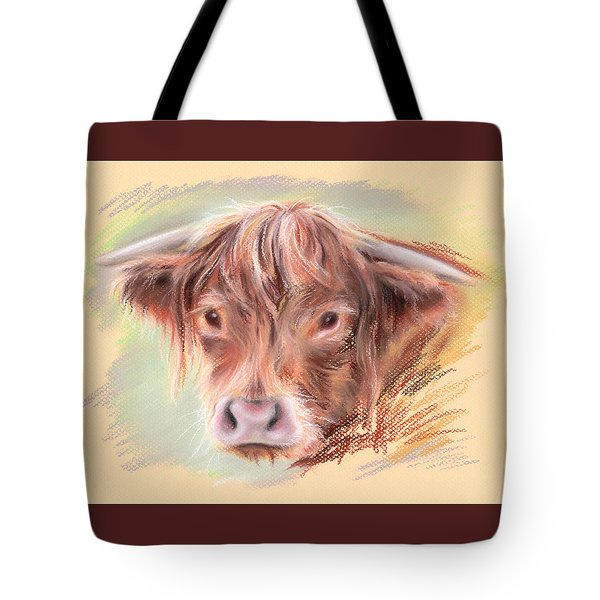 Highland Cow Pastel Tote Bag by MM Anderson