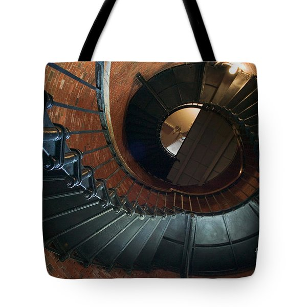 Highland Lighthouse Stairs Cape Cod Tote Bag by Matt Suess