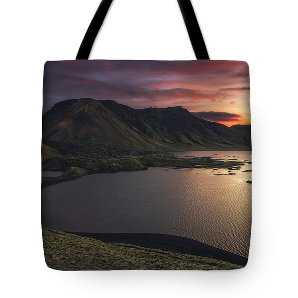 Highland Sunset Tote Bag