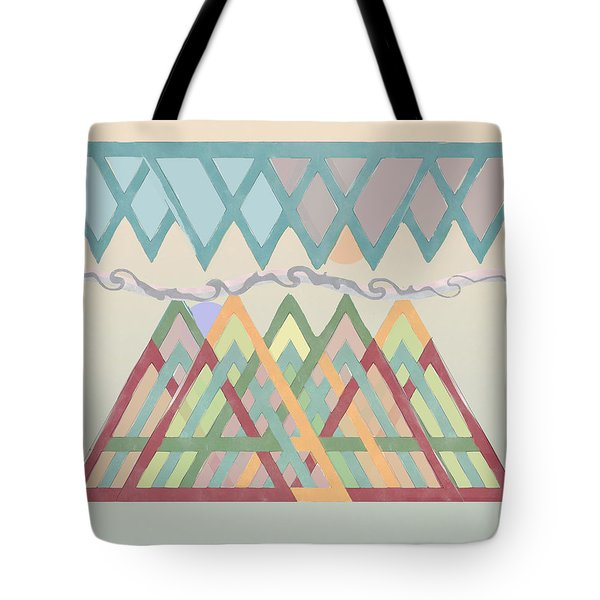 Tote Bag featuring the digital art Highlands Anvil by Deborah Smith