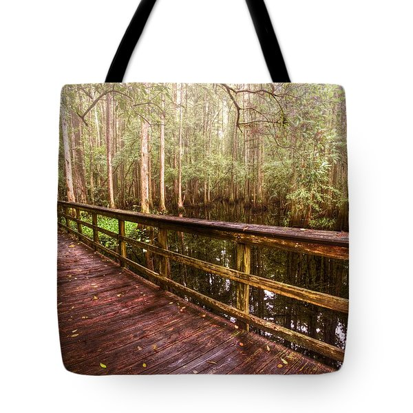 Highlands Hammock Tote Bag by Debra and Dave Vanderlaan