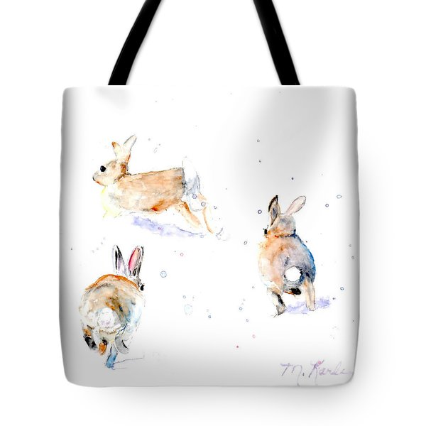 Hightailing Bunnies Tote Bag