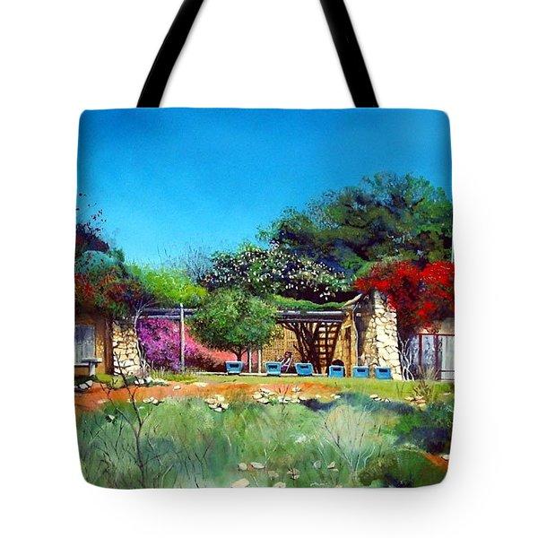 Highveld House Tote Bag by Tim Johnson