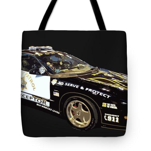 Highway Interceptor Art Tote Bag