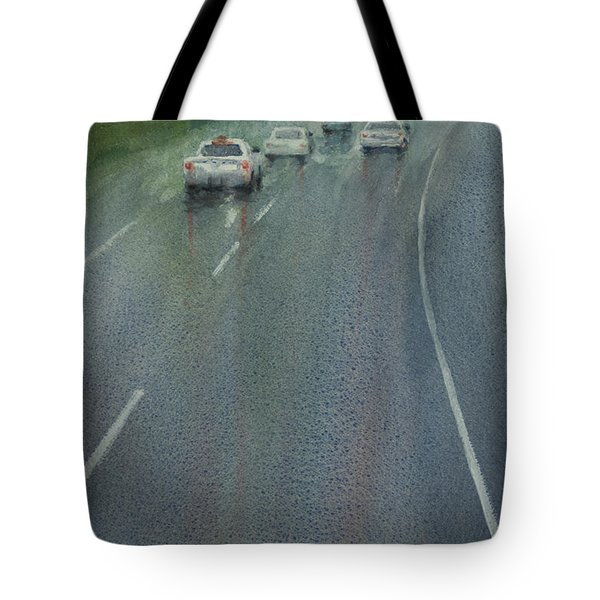 Highway On The Rain02 Tote Bag