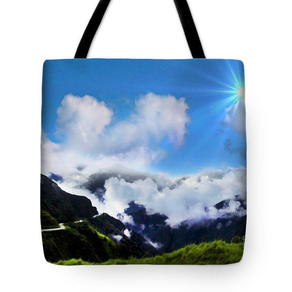 Highway Through The Andes - Painting Tote Bag by Al Bourassa