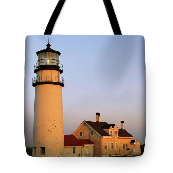 Tote Bag featuring the photograph Higland Lighthouse Cape Cod by Roupen  Baker