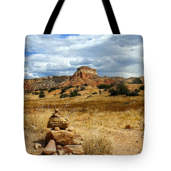 Tote Bag featuring the photograph Hiking Ghost Ranch New Mexico by Kurt Van Wagner