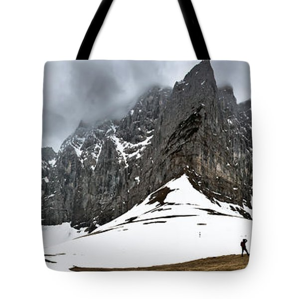 Hiking In The Alps Tote Bag