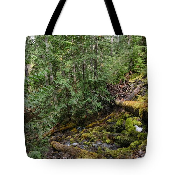 Hiking In The Forest Tote Bag
