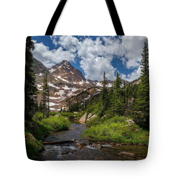 Hiking Into A High Alpine Lake Tote Bag