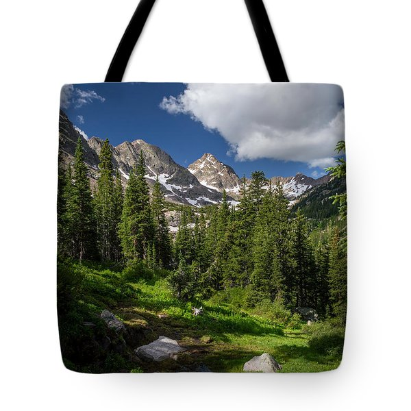 Hiking Into The Gore Range Mountains Tote Bag