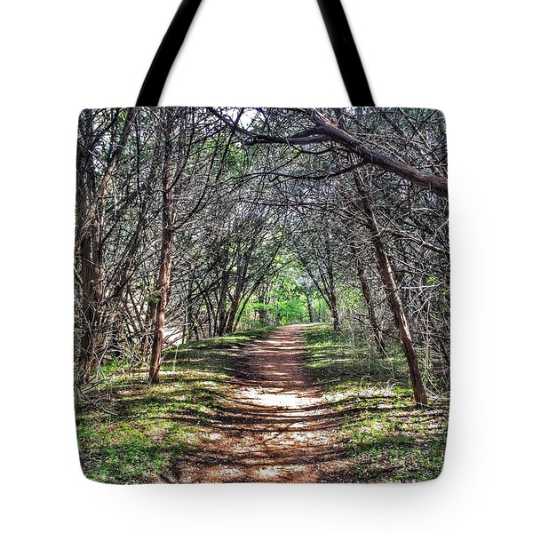Hiking Meridian State Park  Tote Bag