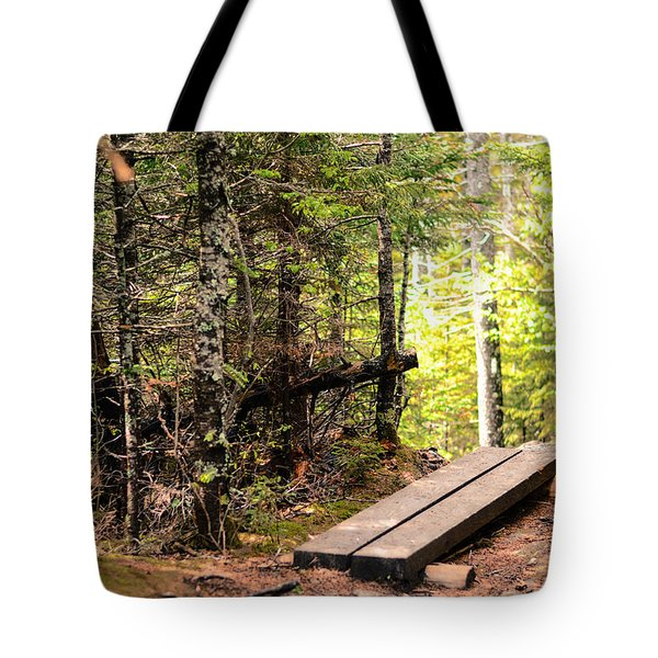 Hiking Mount Washington Tote Bag