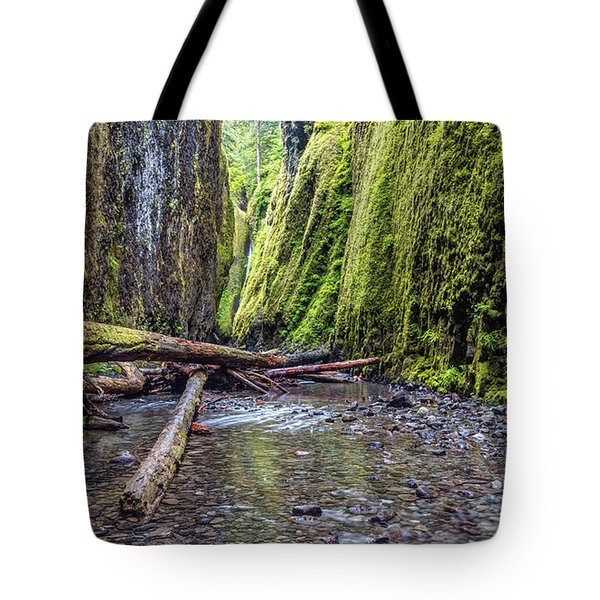 Hiking Oneonta Gorge Tote Bag