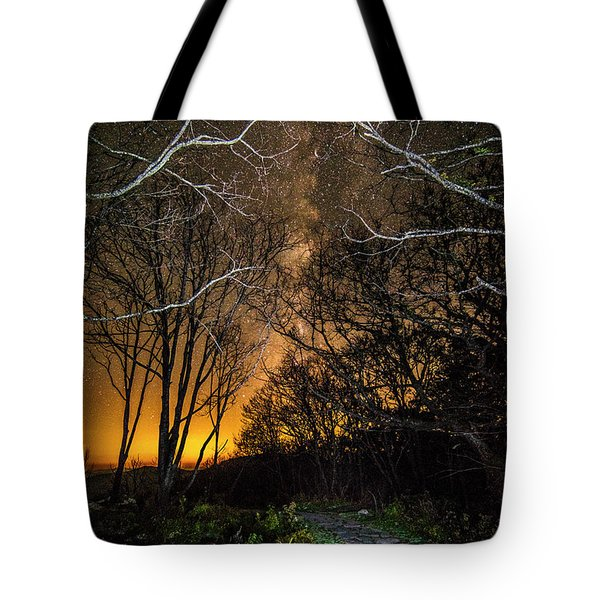 Hiking The Milky Way Tote Bag