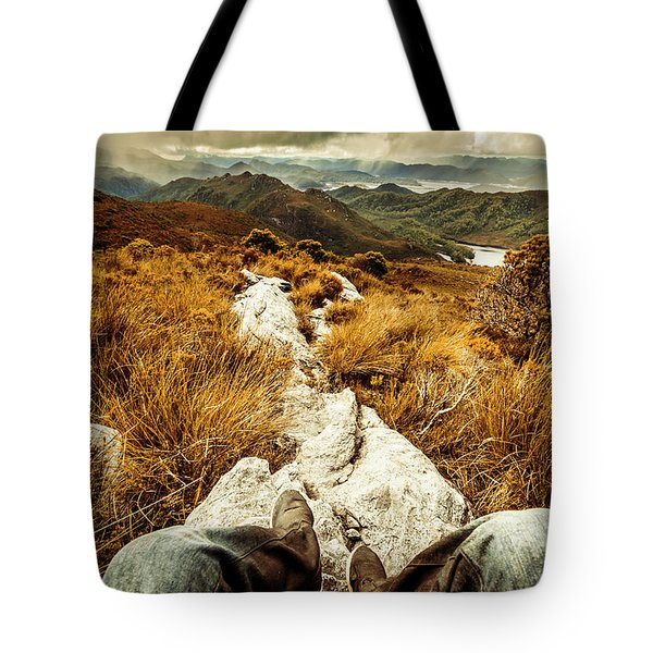 Hiking The Mount Sprent Trail Tote Bag