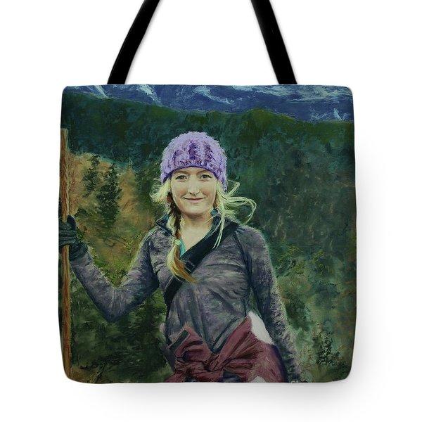 Hiking The White Mountains Tote Bag