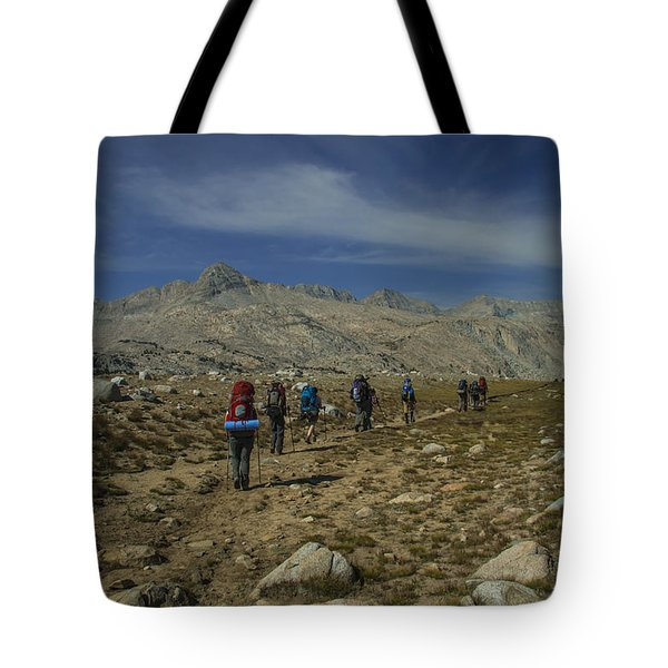 Hiking Through Humphrey Basin Tote Bag