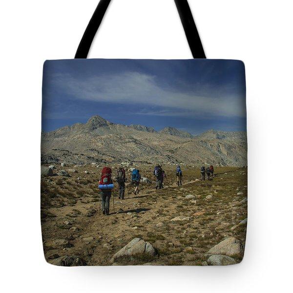 Hiking Through Humphrey Basin Tote Bag