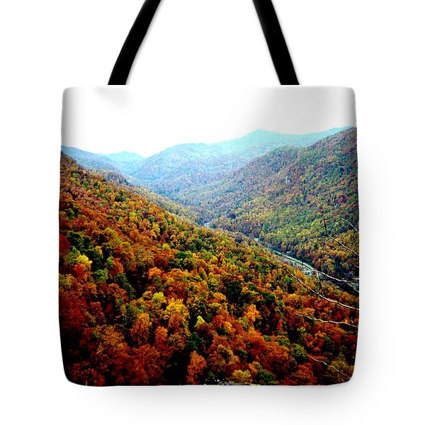 Tote Bag featuring the photograph Hiking Through The Mountains by Skyler Tipton