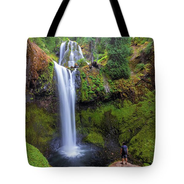 Hiking To Falls Creek Falls Tote Bag by David Gn