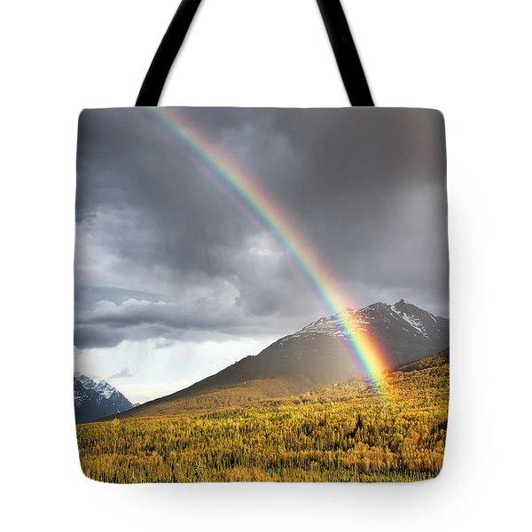 Hiland Mountain Tote Bag