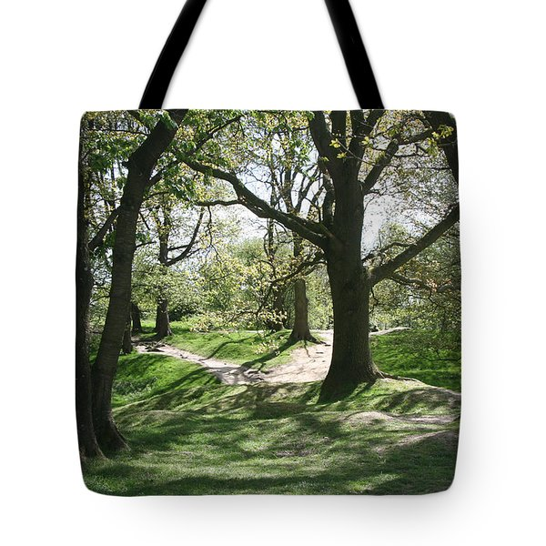 Hill 60 Cratered Landscape Tote Bag by Travel Pics