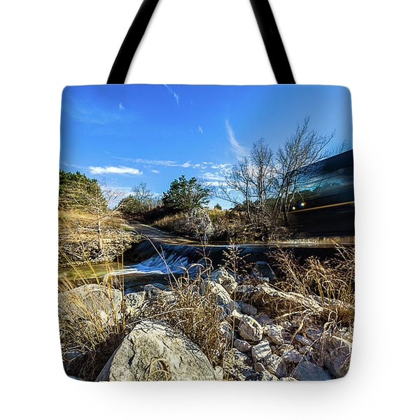 Hill Country Back Road Long Exposure #2 Tote Bag by Micah Goff