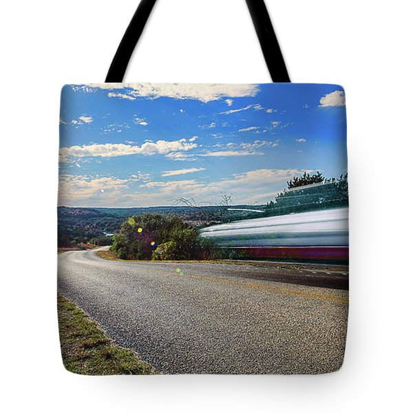 Hill Country Back Road Long Exposure Tote Bag by Micah Goff