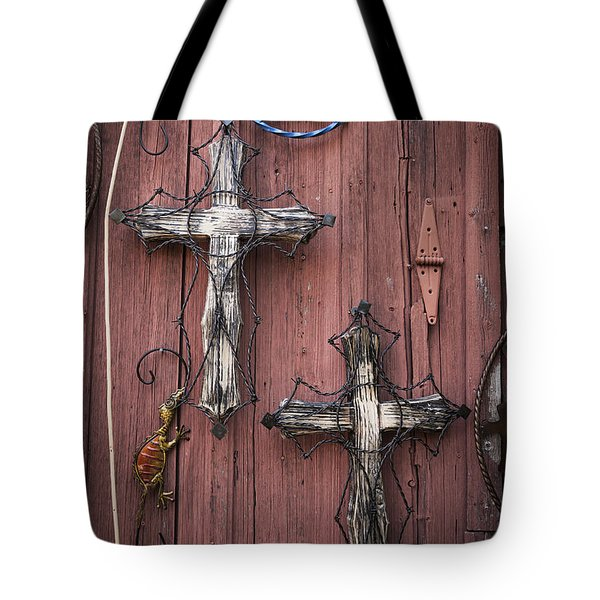Hill Country Crosses Tote Bag