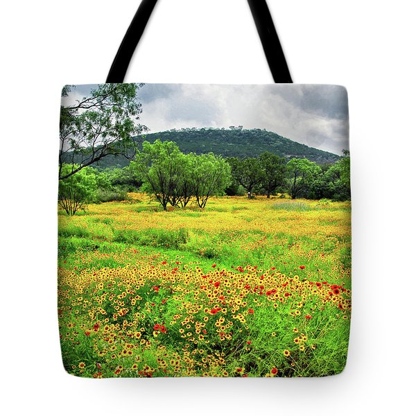 Hill Country Wildflowers Tote Bag