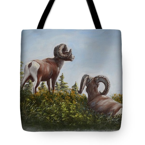Hill Top View Tote Bag