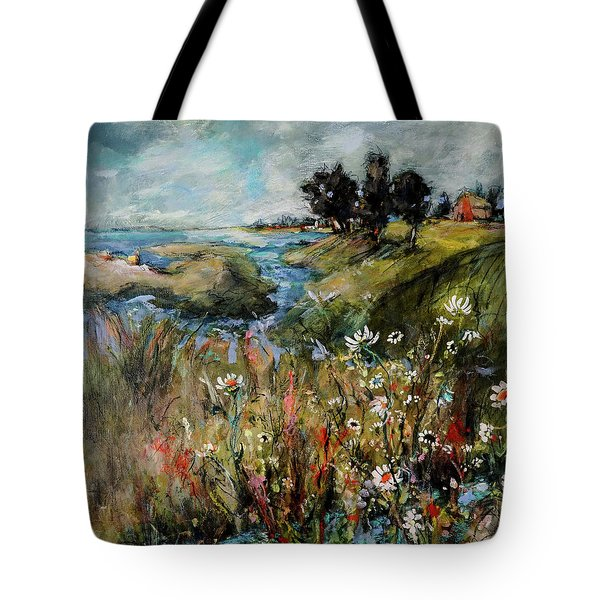Hill Top Wildflowers Tote Bag