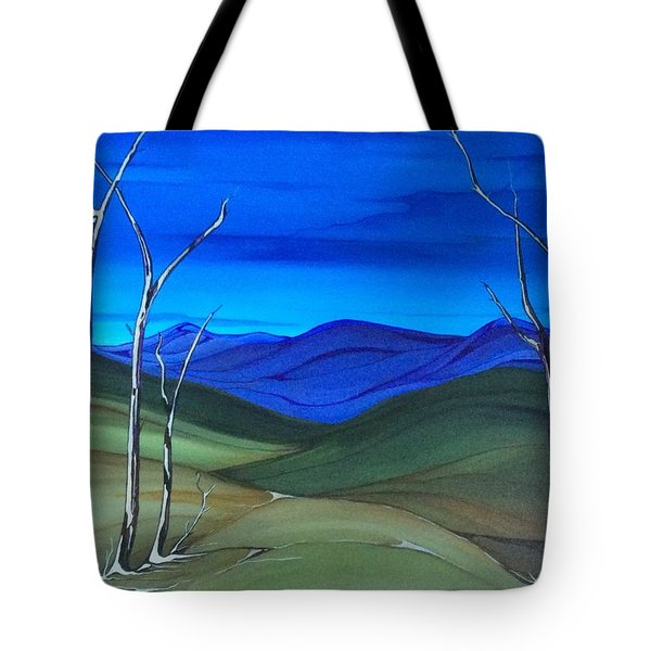 Hill View Tote Bag by Pat Purdy