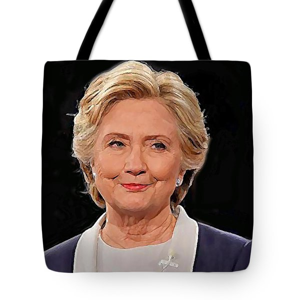 Hillary At The Debate Tote Bag by Fred Jinkins