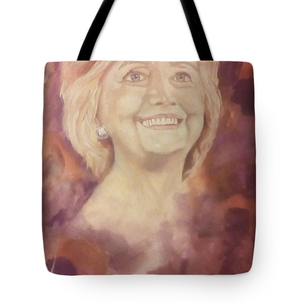 Tote Bag featuring the painting Hillary Clinton by Raymond Doward