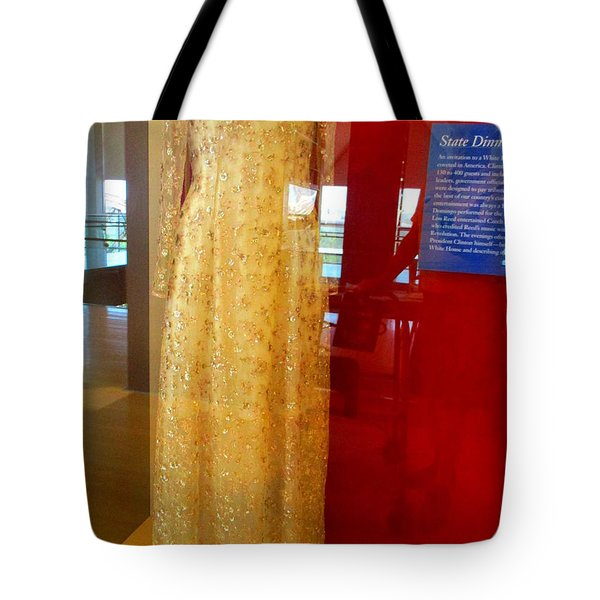 Hillary Clinton State Dinner Gown Tote Bag