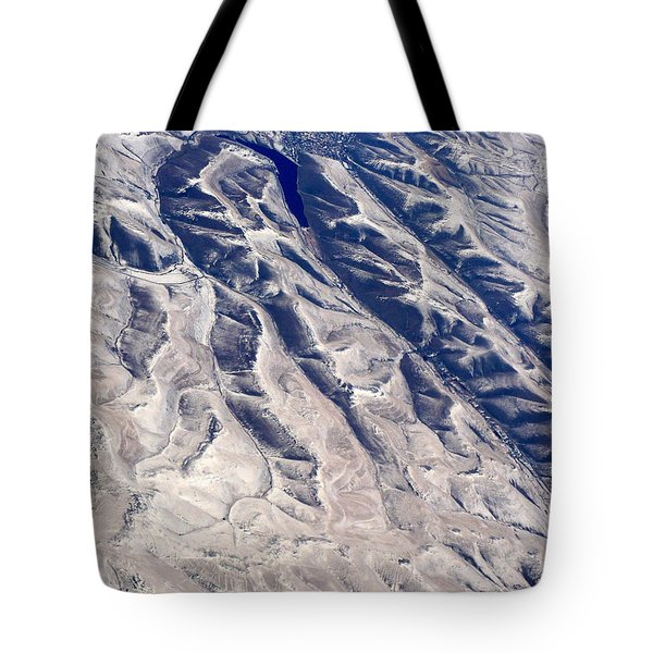 Hills And Valleys Aerial Tote Bag by Carol Groenen