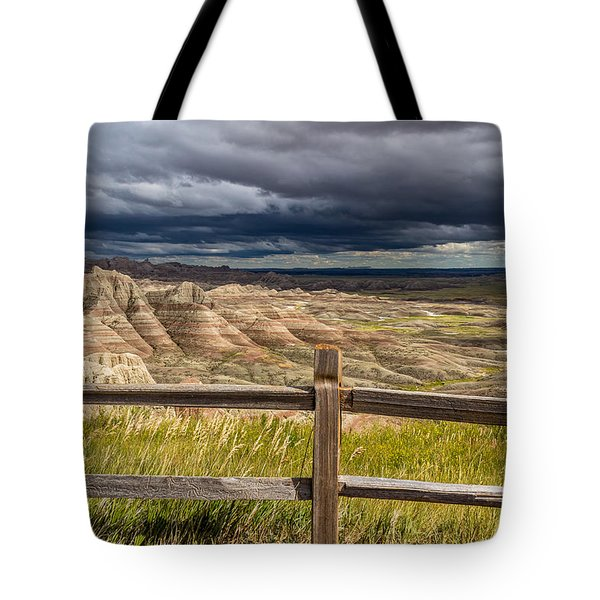 Hills Behind The Fence Tote Bag