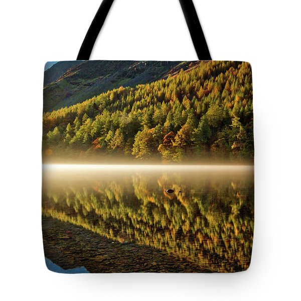 Hills In The Mist Tote Bag