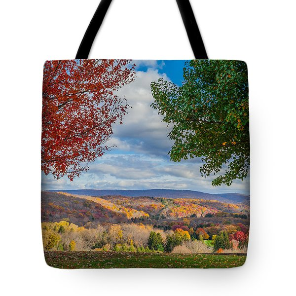 Tote Bag featuring the photograph Hills Of Autumn by April Reppucci