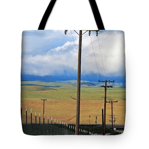 Hills Of Chatter Tote Bag by Kathy Yates