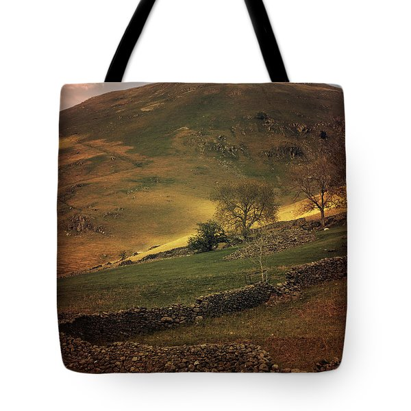 Hills Of Scotland At The Sunset Tote Bag by Jaroslaw Blaminsky